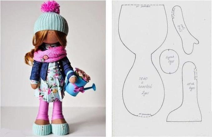 вязанная кукла большеножка 021