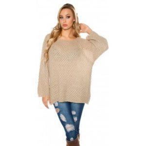вязанный свободный свитер 018
