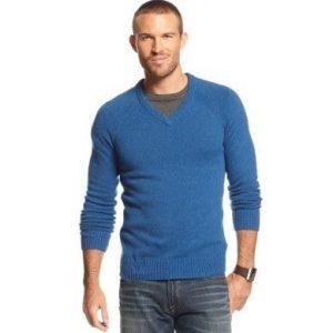 вязаный свитер к джинсам 014