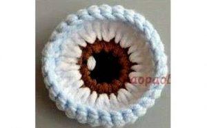 глаза для вязаной куклы своими руками 022