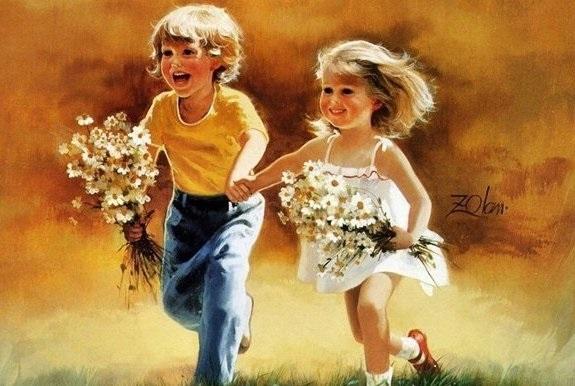 дети картинки брат и сестра 012