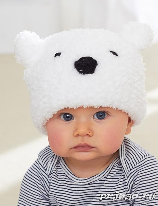 детская шапочка спицами из травки 006