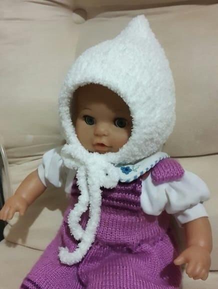 детская шапочка спицами из травки 019