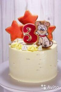 детский торт с пряниками 024