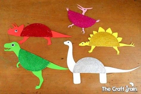 динозавр своими руками из картона 014
