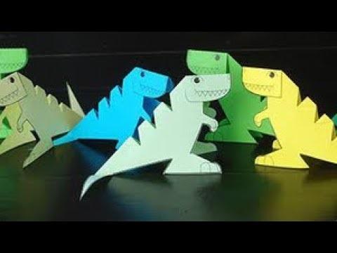 динозавр своими руками из картона 016