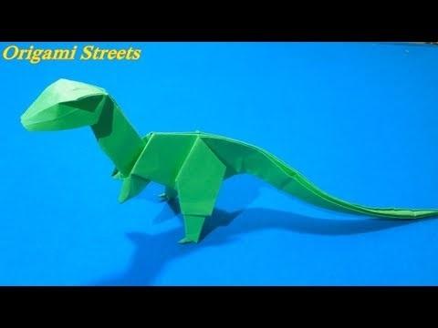 динозавр своими руками из картона 019