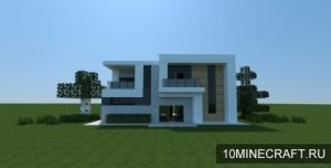дома модерн в майнкрафт 022