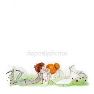 жених и невеста акварель 023