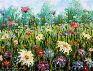 живопись полевые цветы картины 019