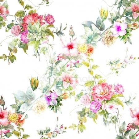 живопись цветы на белом фоне 010