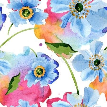 живопись цветы на белом фоне 011