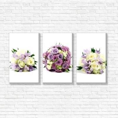 живопись цветы на белом фоне 016