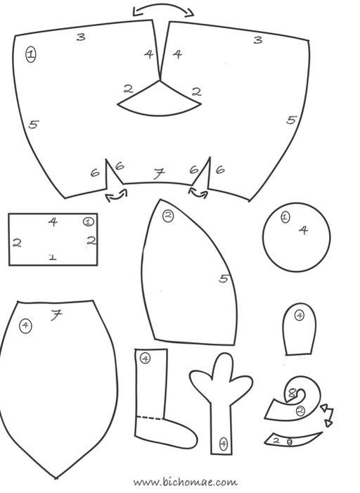 игрушка буба выкройка 018