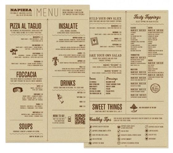 идеи для меню в кафе 016