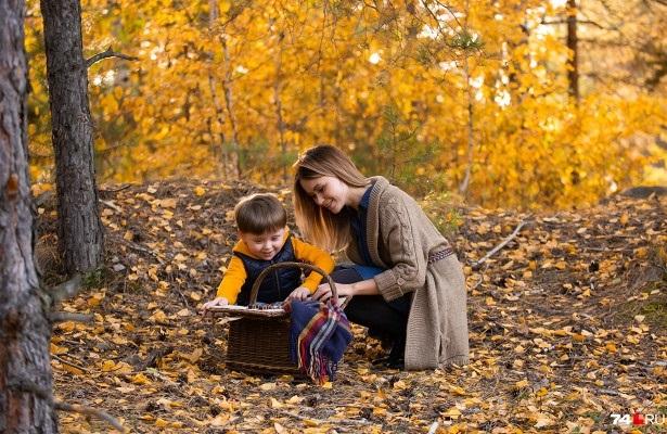 идеи фотосессии осенью в поле 006
