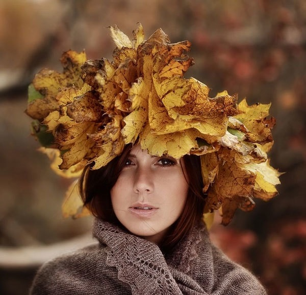 идеи фотосессии осенью в поле 012