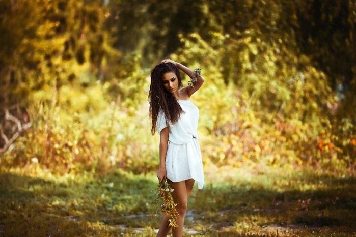 идеи фотосессии осенью в поле 017