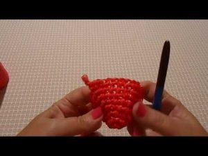 как связать мочалку игрушку лягушку 022