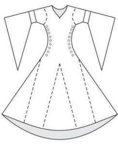 как сшить своими руками средневековое платье 023