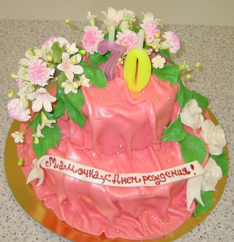 как украсить торт ко дню матери 020