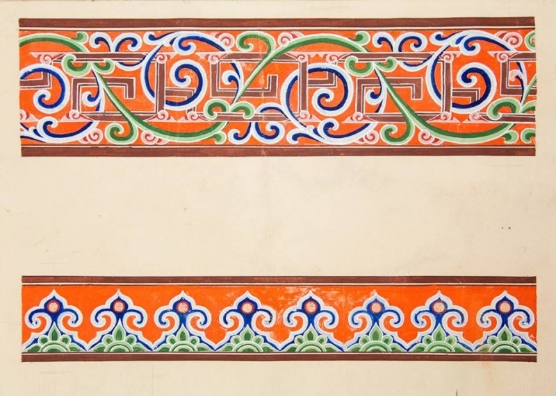 калмыцкий орнамент рисунок 005