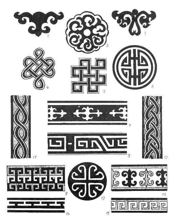 калмыцкий орнамент рисунок 010