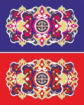 калмыцкий орнамент рисунок 018