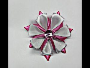 канзаши необычный цветок 023