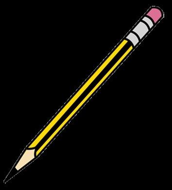 карандаши на прозрачном фоне 024