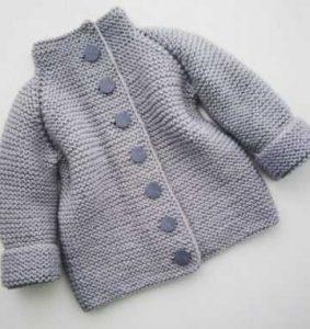 кардиган спицами для малышей 023