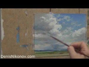 картина маслом небо 023