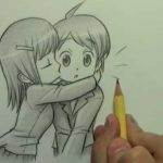 Картинки аниме пары карандашом — коллекция фотографий