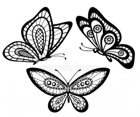 картинки для вышивки бабочки 020