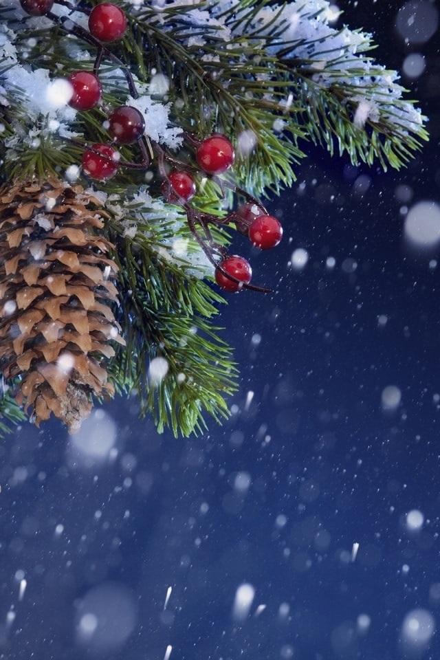 картинки зима новый год на телефон 001