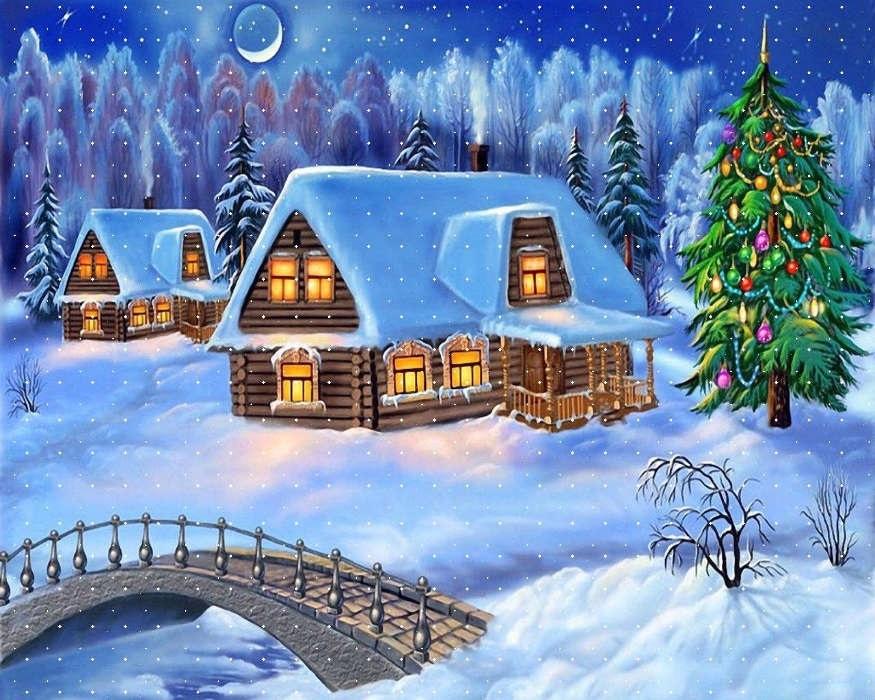 картинки зима новый год на телефон 002