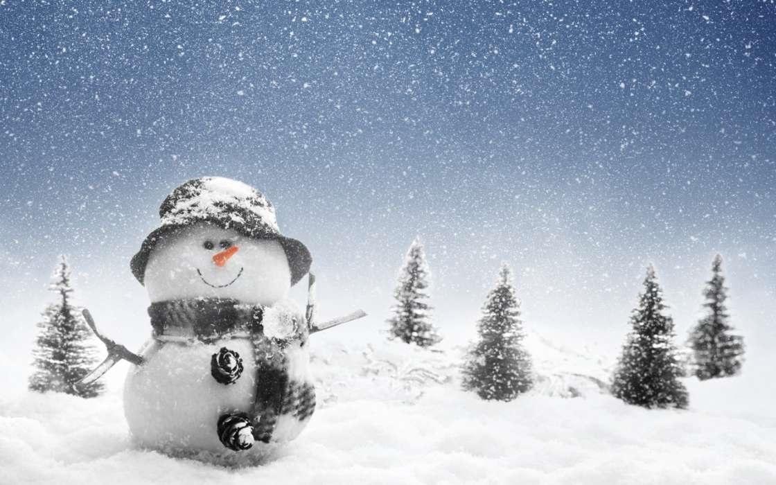 картинки зима новый год на телефон 004