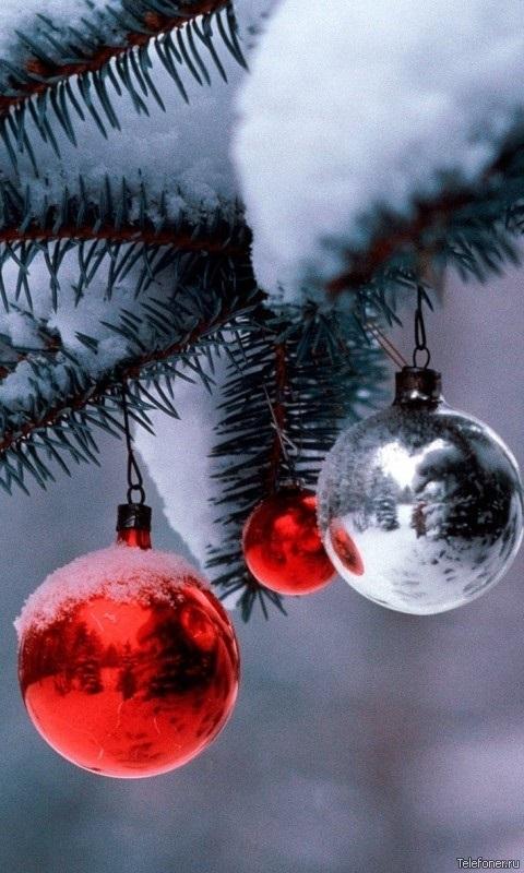 картинки зима новый год на телефон 006