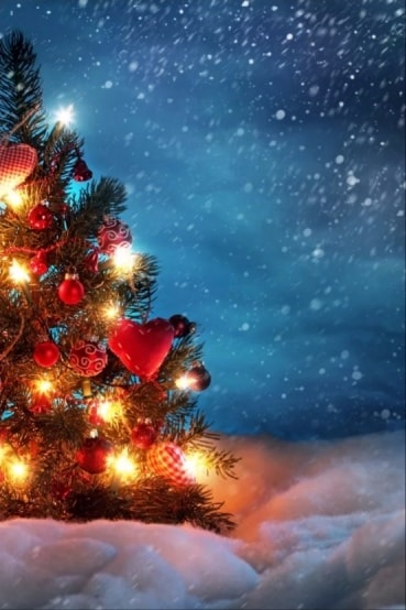 картинки зима новый год на телефон 007
