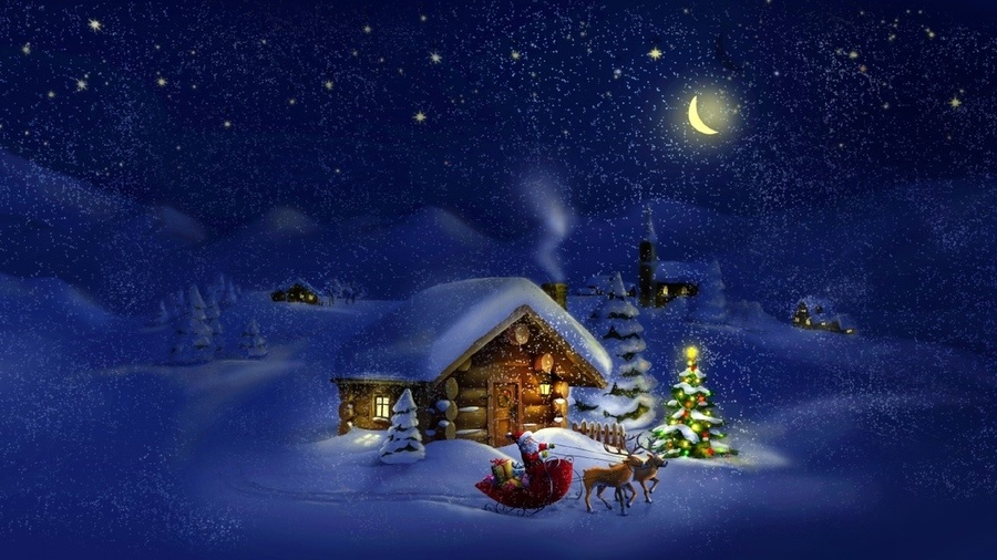 картинки зима новый год на телефон 009