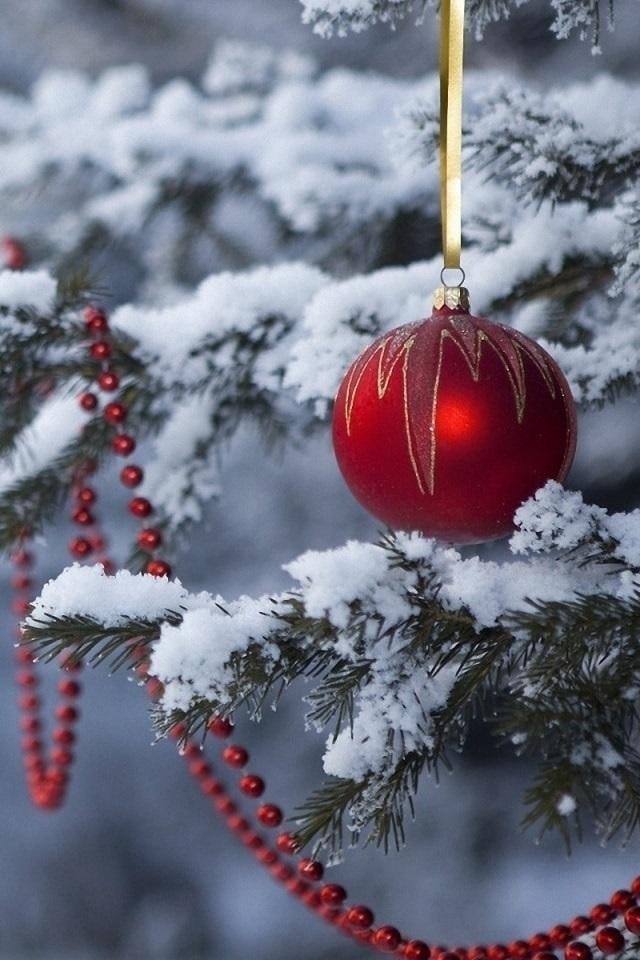 картинки зима новый год на телефон 010