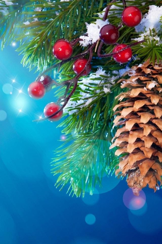 картинки зима новый год на телефон 011