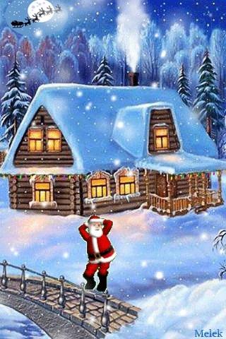 картинки зима новый год на телефон 012