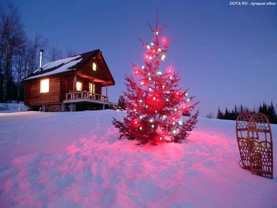 картинки зима новый год на телефон 013