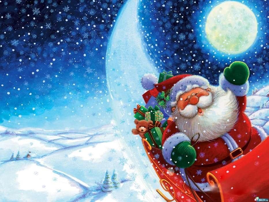 картинки зима новый год на телефон 017