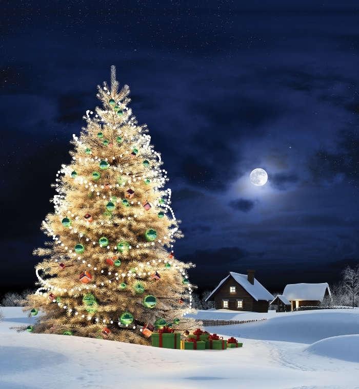 картинки зима новый год на телефон 019