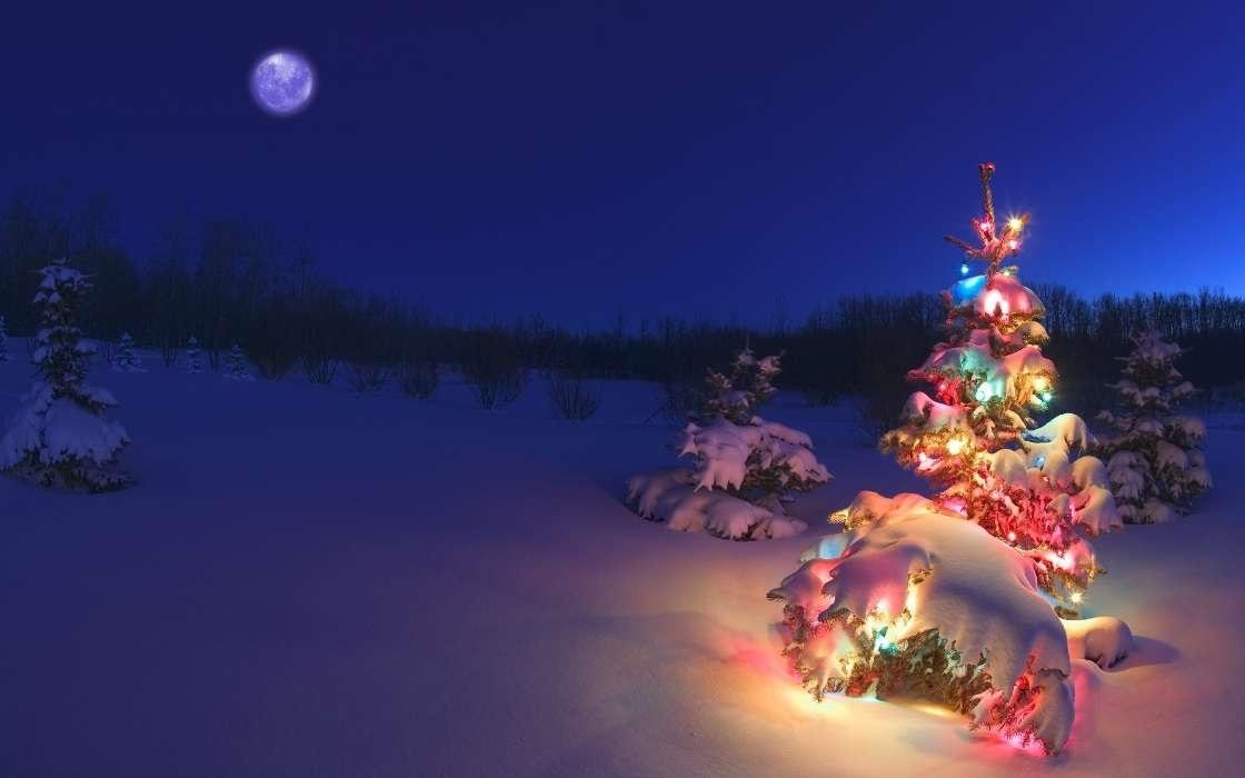 картинки зима новый год на телефон 020