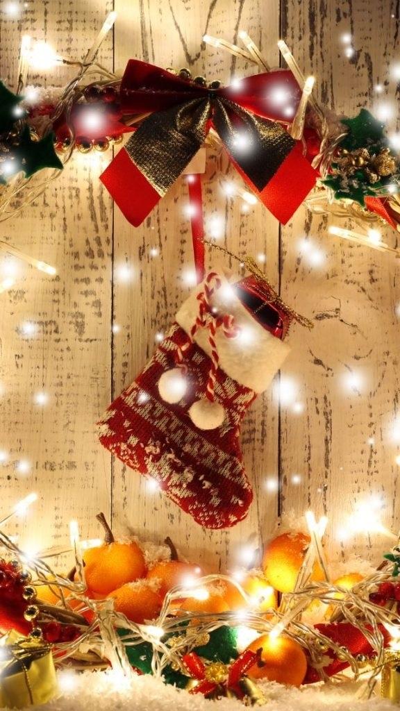 картинки зима новый год на телефон 022