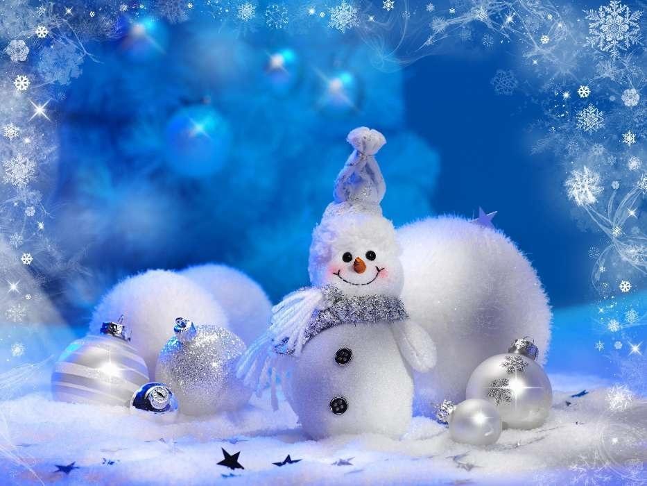 картинки зима новый год на телефон 023