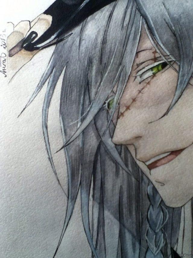 картинки карандашом темный дворецкий 004